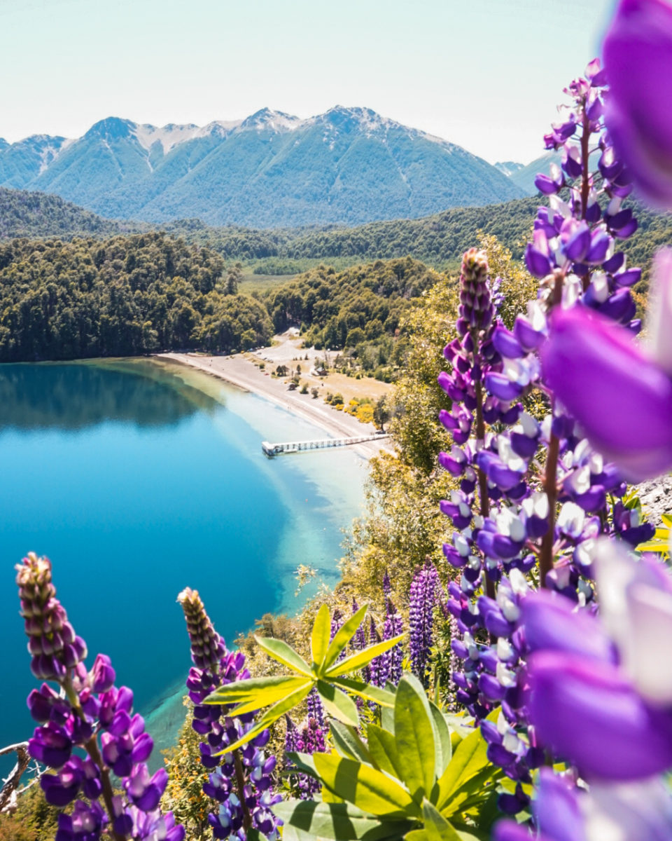 Espejo Chico ( Small Mirror) Lake  and Ruca Malen River