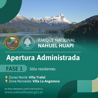 Plan de Reapertura Parcial para la zona norte y noroeste del Parque Nacional Nahuel Huapi y el Parque Nacional los Arrayanes