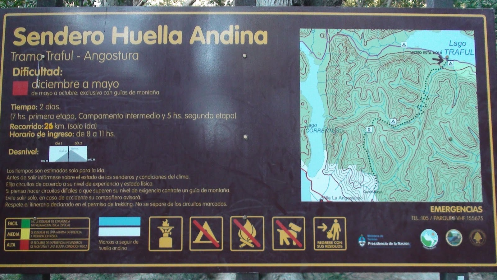 Senda Traful – Angostura (Trekking – Senderismo)